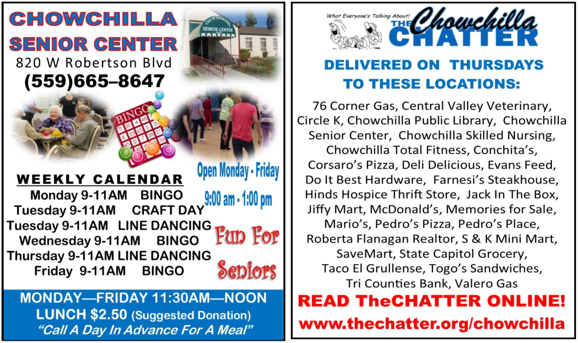 HOME - The Chatter - Chowchilla